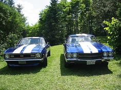 68 Camaro and a 70 Chevelle. No way my two favorite cars! Old Muscle Cars, American Muscle Cars, Sexy Cars, Hot Cars, 70 Chevelle, Car Stuff, Amazing Cars, Cars Motorcycles, Dodge