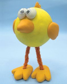 The New Clay News: Make This Silly Yellow Bird