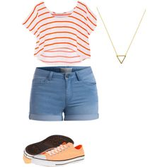 orange u glad by annikasallie on Polyvore featuring polyvore fashion style Rebecca Minkoff Pieces Converse Wanderlust + Co