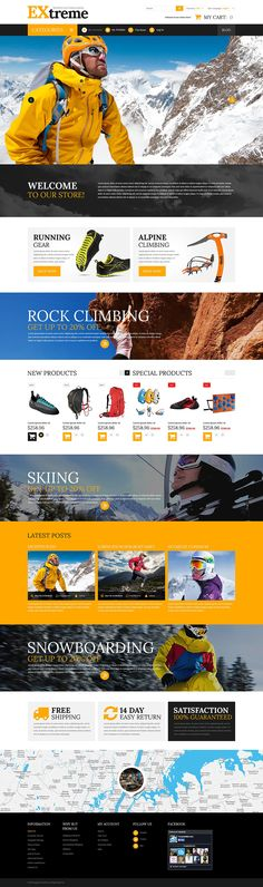 Extreme Sports Clothing Gear #Magento Theme #52534