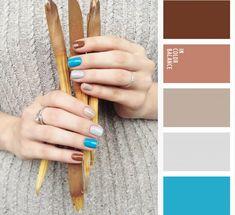 kiko 370, zoya - robin, essie - sand tropez и virtual - london fog #nails #nailart