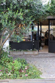 Masaki's diary Dec 2014 Green Garden, Shade Garden, Park Restaurant, Garden Entrance, Natural Interior, Entrance Design, Plant Design, Green Flowers, Outdoor Dining