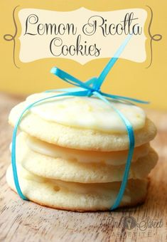 Lemon Ricotta Cookies-- came out great....I warmed the glaze before I put them on the cookies-wow!