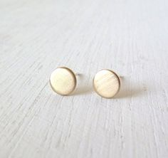 Hey, I found this really awesome Etsy listing at https://www.etsy.com/listing/162038387/modern-gold-dots-sterling-silver-stud