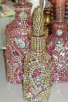 Antique Bejeweled Bottle 3 From The Collection  By Debbie Del Rosario-Weiss!!!