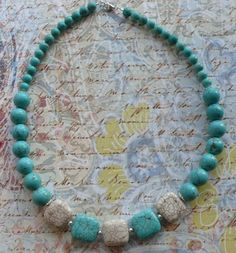 Blue & White Turquoise Necklace