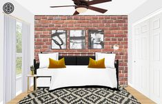Eclectic, Industrial Bedroom Design by Havenly Interior Designer Ashley Modern Interior, Interior Design, Living Room Bedroom, Master Bedroom, Eclectic Design, Decor Styles, Home Furniture, House, Inspirational
