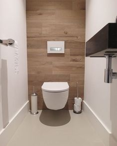 Impress Your Site visitors with These 14 Adorable Half-Bathroom Designs Small Toilet Design, Small Toilet Room, Bathroom Design Small, Bathroom Interior Design, Bathroom Designs, Modern Bathroom Decor, Bathroom Styling, Toilet Closet, Bad Styling