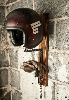 Image of The Solo Helmet Rack Call today or stop by for a tour of our facility! Indoor Parking Available! Ideal for Classic Cars, Motorcycles, ATV's & Jet Skies 505-275-2825