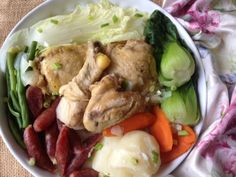 How to cook Steamed Chicken with Vegetables and Chinese Sausages on http://asianinamericamag.com