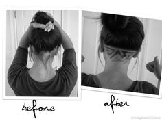 Wish I could try this. I hate that bottom hair. Too bad my hair is so thin, I would have nothing left!