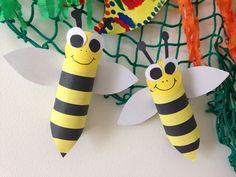 Včelky z toaletního ruličky :)