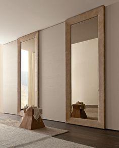 Contemporary wardrobe / sliding door - MIRROR - Presotto