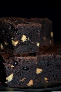 extra dark chocolate brownies