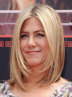 We can always count on Jennifer Aniston to take the classic all-American, girl-next-store look to the next level and achieve something much more cool. Her angled, long bob looks effortless yet polished. via StyleList | http://aol.it/1qKR0uh