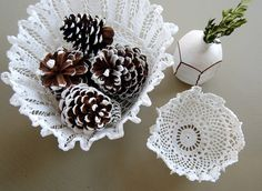 how to make doily bowls