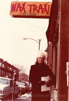 Wax Trax Records on Lincoln Ave, Chicago, mid 80's.