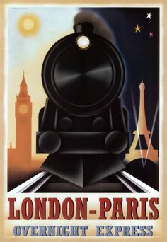 This design is balanced, and clearly shows the purpose of the poster. It shows that the train travels through the day and the night, and includes both cities. The design is in one point perspective.