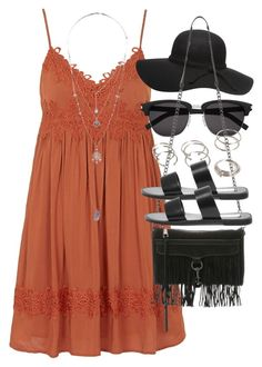 Outfit with a summer dress by ferned on Polyvore featuring polyvore, fashion, style, Topshop, Steve Madden, Rebecca Minkoff, Miss Selfridge, Forever 21, Yves Saint Laurent and Dorothy Perkins