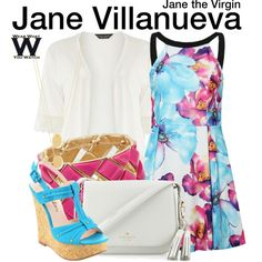 Inspired by Gina Rodriguez as Jane Villanueva on Jane the Virgin. Tv Show Outfits, Cool Outfits, Fashion Outfits, Women's Fashion, Themed Outfits, Inspired Outfits, Jane The Virgin, Stitch Fix Outfits, Casual Cosplay
