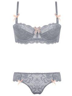 Burvogue Plus Size Lace Intimate Underwear Thin Bra Sets Lingerie