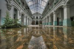 Niki Feijen Photography . Speculum - Water is the driving force of all nature. Shot in an abandoned school.