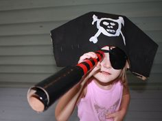 pirate crafts: hat, eye patch, and scope