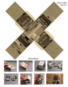 Image detail for -Blog Paper Toy papertoy Snake in a box template preview Papertoy Solid ...