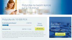 EUROLOAN POŻYCZKI do 10.000 zł Szybka pożyczka euroloan w 15 minut