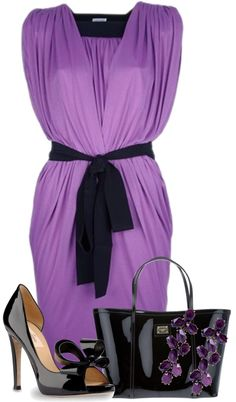 """""""Purple & Black"""" by ljjenness on Polyvore"""