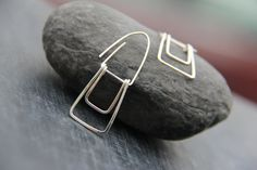 Sterling silver or copper geometric rectangle by Keepandcherish