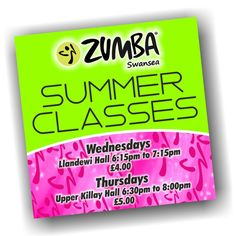 Last week we mentioned this artwork was on its way, and here it is. The latest advert for Zumba Swansea's new Summer Classes :) #Design #Advert #Ad #Zumba #Classes #Swansea #Gower #Fitness #Fun #LetItMoveYou