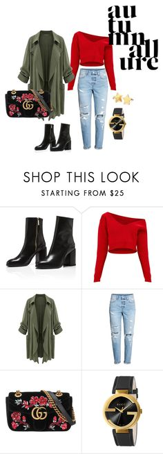 """""""autumn 2017"""" by getdressedwithme on Polyvore featuring moda, Gucci i Pernille Corydon"""