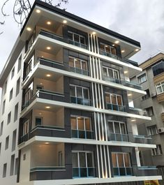 Innovative and incredible building, where people live! It has so popular and trending architecture and also the best services and technologies there! Building Front, Building Facade, Building Design, Architecture Plan, Residential Architecture, Facade Design, Exterior Design, Halls, Building Elevation