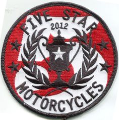Five Star Motorcycle Patch