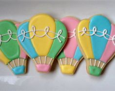 Pix For > Hot Air Balloon Sugar Cookies
