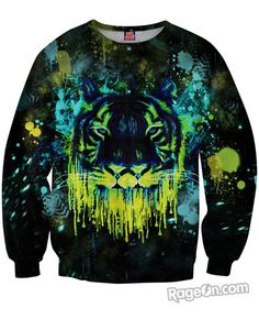 FOR ME | Tiger Drippy Sweatshirt - this sweatshirt is crazy expensive... but it would be cool to DIY.