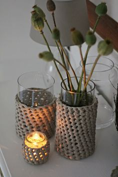 HerzStück: DIY - Herbstpulli für Vasen