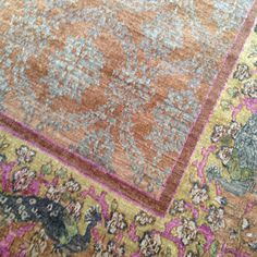 Silk over dyed rug