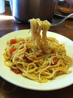 simple pasta in under 20 minutes! i crave this!