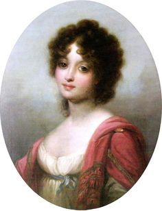 Portrait (copy) of princess Zofia Czartoryska (1778 – 1837, Polish noble lady) by Józef Grassi (Austrian,1758-1838)