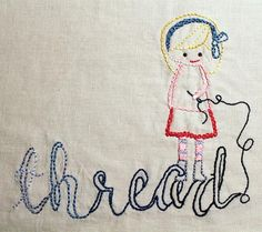 Embroider a child's drawing
