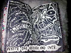 Wreck this journal - Write one word over and over