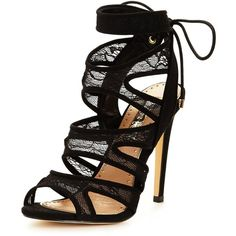 Miss Kg Frenchy Mesh Strappy Sandal ($77) ❤ liked on Polyvore featuring shoes, sandals, red heeled sandals, strap high heel sandals, high heel shoes, red high heel sandals and strappy sandals