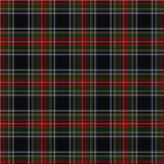 Black Stewart Tartan fabric by lilyoake on Spoonflower - custom fabric, wallpaper and gift wrap