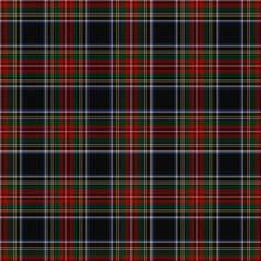 Black Stewart Tartan fabric by lilyoake on Spoonflower - custom fabric, wallpaper and gift wrap