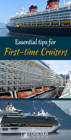Some people might be nervous taking their first cruise. Here are some essential first-time cruising tips which covers topics like what included in your cruise, motion sickness, onboard accounts, how long to sail the first time and more. Top Cruise, Best Cruise, Cruise Port, Cruise Travel, Cruise Vacation, Cruise Excursions, Cruise Destinations, Carnival Cruise Reviews, Cruise Packing Tips