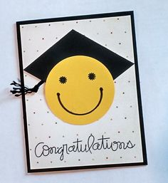 Graduation Card Congratulations Cap and Tassel by TwoYellowDaisies Graduation Cards Handmade, Greeting Cards Handmade, Anniversary Crafts, Stamping Up Cards, Congratulations Card, Kids Cards, Creative Cards, Homemade Cards, Decoration