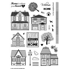 """Hot Off The Press - Clear Stamps - Welcome Home (6""""x8"""")"""