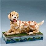 Lucky-Yellow Labrador Figurine from  - Jim Shore Store